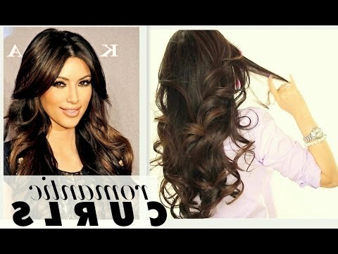 ? Kim Kardashian Big Curls Tutorial   Cute Long Hairstyles   How To For Everyday Loose Wavy Curls For Long Hairstyles (View 14 of 25)