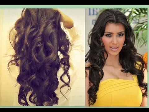 ? Kim Kardashian Hair Tutorial | How To Curl Long Hair | Big, Sexy Inside Long Hairstyles Curls (View 24 of 25)