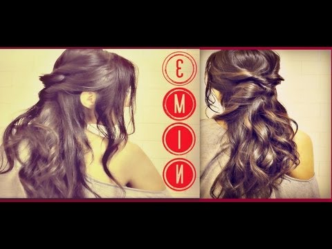 ?3 Min Easy & Quick Everyday Hairstyles, Half Up With Curls Pertaining To Long Hairstyles For Balls (View 13 of 25)