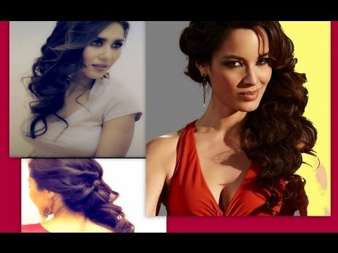 ?Cute Hairstyles: Side Swept Curly Half Up Updo For Medium Long Inside Voluminous Prom Hairstyles To The Side (View 16 of 25)