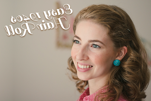 Easy 1940S Hair Roll Tutorial (+Video!) – The Boyer Sisters Inside Easy Vintage Hairstyles For Long Hair (View 18 of 25)
