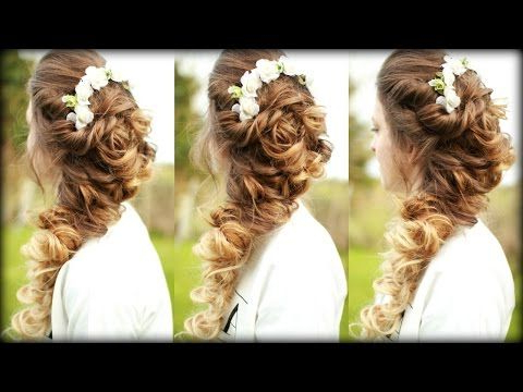 Easy Cascading Curls Hairstyle | Prom Hairstyles | Braidsandstyles12 Inside Long Cascading Curls Prom Hairstyles (View 5 of 25)