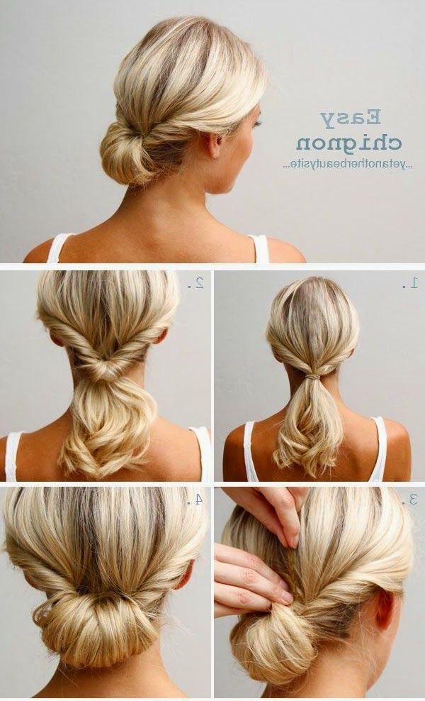 Easy Casual Messy Bun Long Hair Updos With Id : #90 At Lanovem with regard to Long Hairstyles Updos Casual