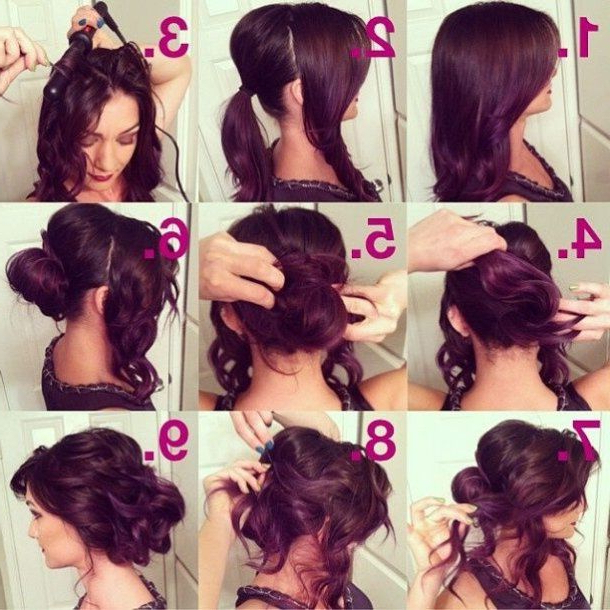 Easy Curly Prom Hairstyles And Glamorous Curly Prom Hairstyle Updo For Easy Curled Prom Updos (View 18 of 25)