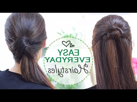 Easy Everyday Hairstyles – Youtube Pertaining To Long Hairstyles Daily (View 22 of 25)