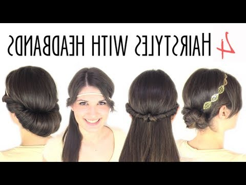 Easy Hairstyles With Headbands – Youtube Inside Long Hairstyles With Headbands (View 3 of 25)
