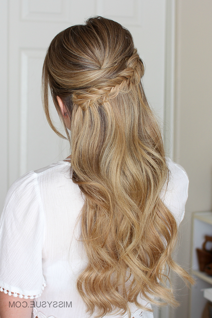 Easy Half Up Prom Hair | Missy Sue In Double Fishtail Braids For Prom (View 9 of 25)