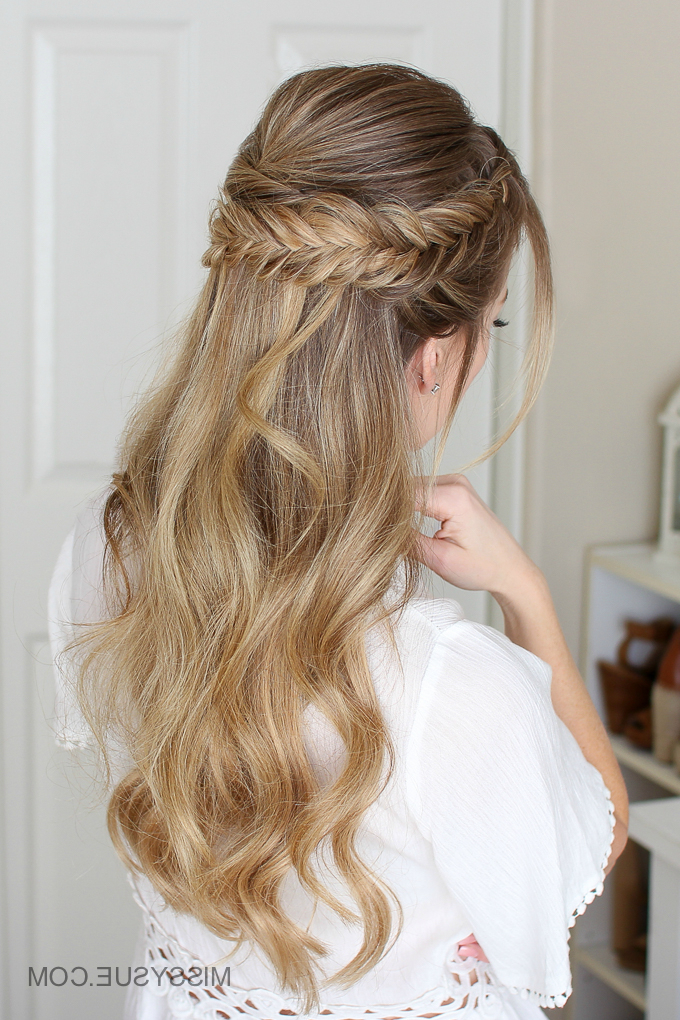 Easy Half Up Prom Hair | Missy Sue Throughout Double Fishtail Braids For Prom (View 7 of 25)