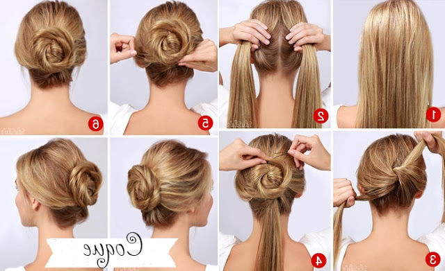 Easy Quick Twisted Bun Hairstyle Pictures, Photos, And Images For Inside Long Hairstyles Easy And Quick (View 11 of 25)