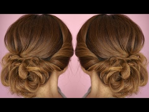 Easy Summer Twist Updo Hair Tutorial – Youtube With Regard To Twisted Side Roll Prom Updos (View 5 of 25)