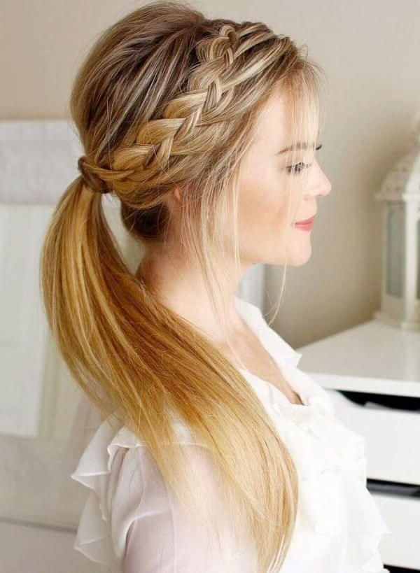 Elegant Party Hairstyles | Hairstyles | Hair Styles, Easy Hairstyles Intended For Elegant Braid Side Ponytail Hairstyles (View 21 of 25)