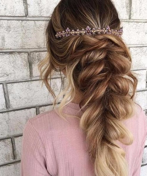 Elegant Prom Hairstyles 2018 With Pretty Headband | Chic Hairstyles Throughout Teased Prom Updos With Cute Headband (View 11 of 25)