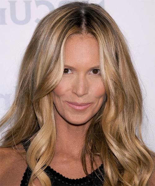 Elle Macpherson Casual Long Wavy Hairstyle – Ash Brunette Hair Color With Regard To Long Hairstyles Elle (View 4 of 25)