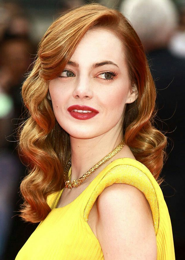 Emma Stone – Old Hollywood Glam Hairstyle | Prom In 2019 | Prom Hair Pertaining To Old Hollywood Long Hairstyles (View 8 of 25)