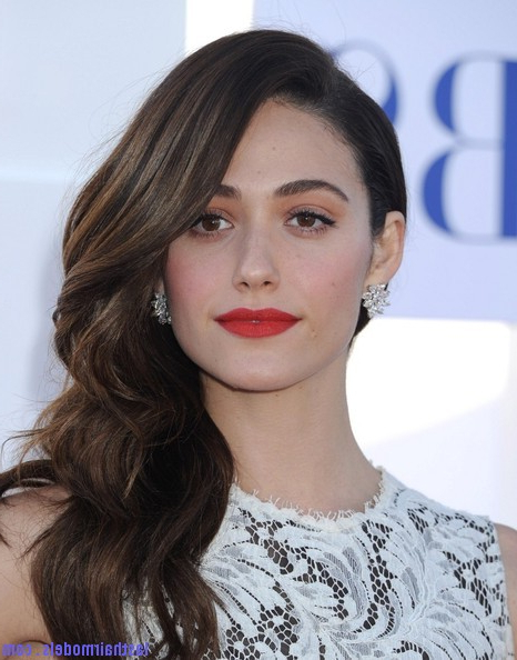 Emmy+Rossum+Long+Hairstyles+Retro+Hairstyle+Qk0Woyxuhxbl | Last Hair Pertaining To Long Hairstyles To One Side (View 23 of 25)