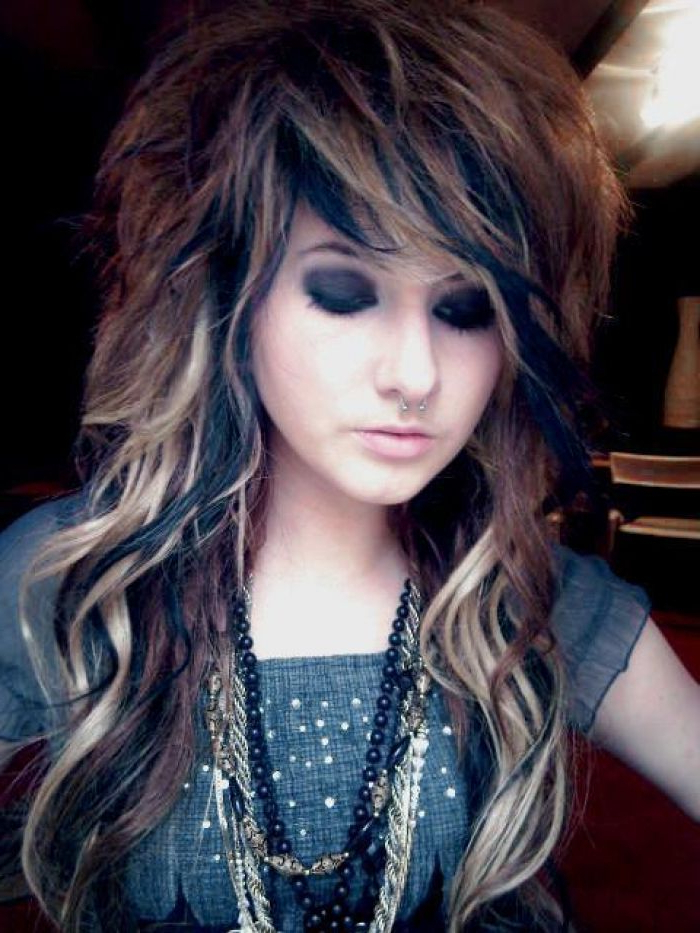 Emo Hairstyles | Funky Color Ideas | Emo Hair, Punk Haircut, Long Pertaining To Funky Long Hairstyles (View 19 of 25)