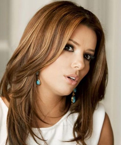 Eva Longoria Long Hairstyles: Trendy Straight Hairstyle – Popular With Long Hairstyles Straight (View 16 of 25)