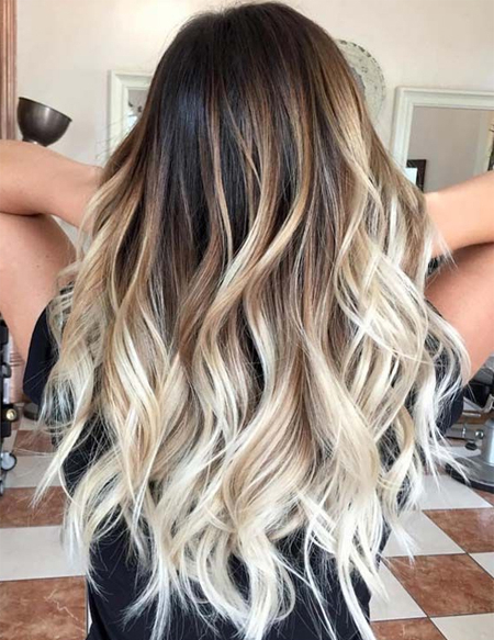 Evergreen Balayage Hair Colors For Long Hairstyles | Fashionsfield With Regard To Long Hairstyles Colors (View 8 of 25)
