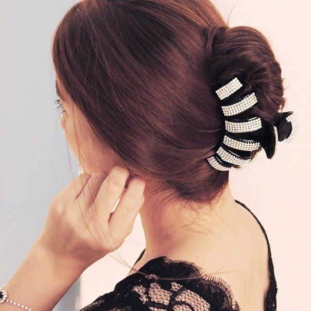 Extra Large Hair Claw Thick Long Hair Clips Big Hairpin Elegant Hair For Hair Clips For Thick Long Hairstyles (View 2 of 25)