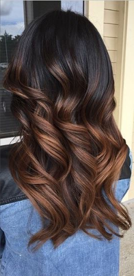 Fall Hair Colour Update pertaining to Warm-Toned Brown Hairstyles With Caramel Balayage