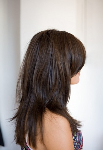 Fantastic Long Layered Hairstyle With Side Bangs For Straight Hair Within Long Hairstyles Brunette Layers (View 19 of 25)