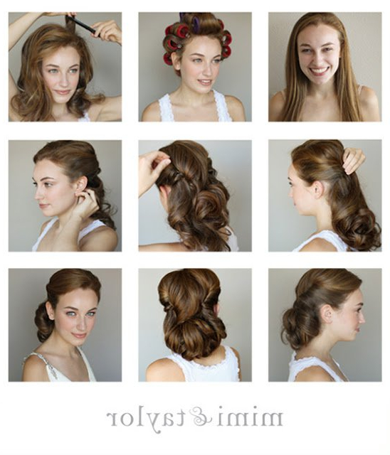 Fashionable Vintage Updo Hairstyle Tutorial | Styles Weekly For Vintage Updos Hairstyles For Long Hair (View 4 of 25)