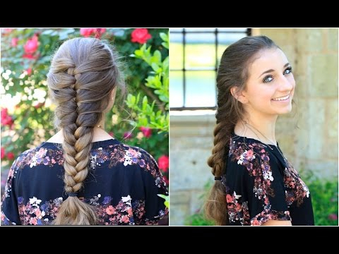 Faux French Braid | Cute Girls Hairstyles – Youtube Pertaining To Long Hairstyles For Jeans (View 10 of 25)