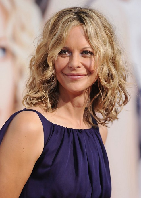 Feminine Soft Wavy Curly Long Bob Hairstyle - Meg Ryan Hairstyles regarding Meg Ryan Long Hairstyles
