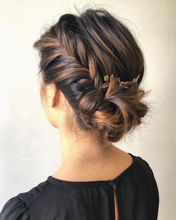 Fishtail Side Bun,wedding Hairstyle,wedding Hair Ideas,bridal Hair Pertaining To Fishtailed Snail Bun Prom Hairstyles (View 3 of 25)