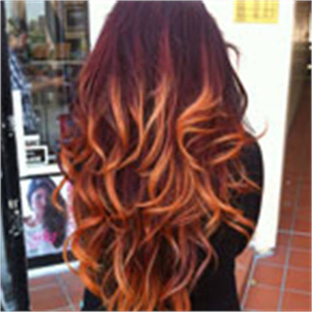 Flaming Red Ombre: The How To – Career – Modern Salon Within Long Hairstyles Red Ombre (View 24 of 25)