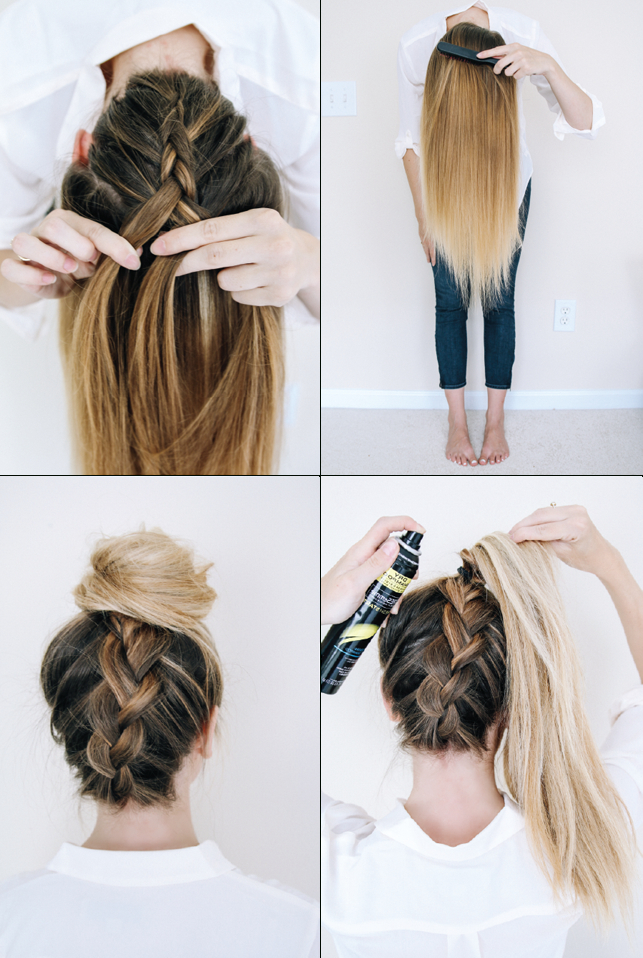 Follow This Tutorial For An Easy Upside-Down Braid. | Beauty | Long throughout Braids For Long Thick Hair
