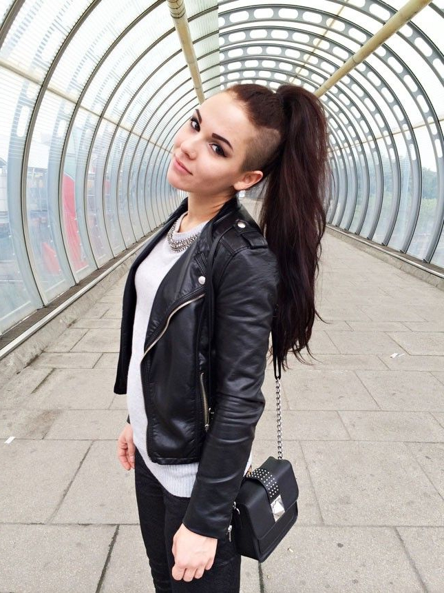 For A More Versatile Shaved Hairstyle, Shave Both Sides Of Your Long with regard to Long Hairstyles Shaved Side