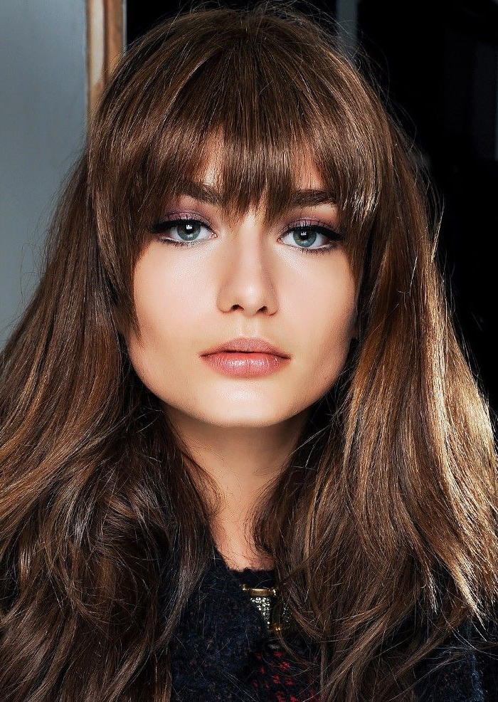 Found: The Best Bangs For Every Face Shape, According To Experts In with regard to Long Hairstyles For Square Faces With Bangs