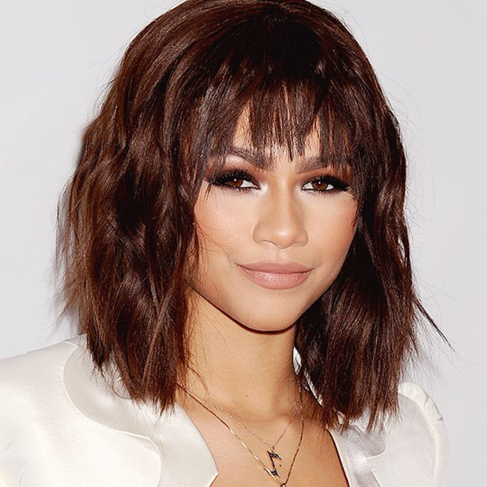Found: The Best Bangs For Every Face Shape pertaining to Long Hairstyles With Angled Swoopy Pieces