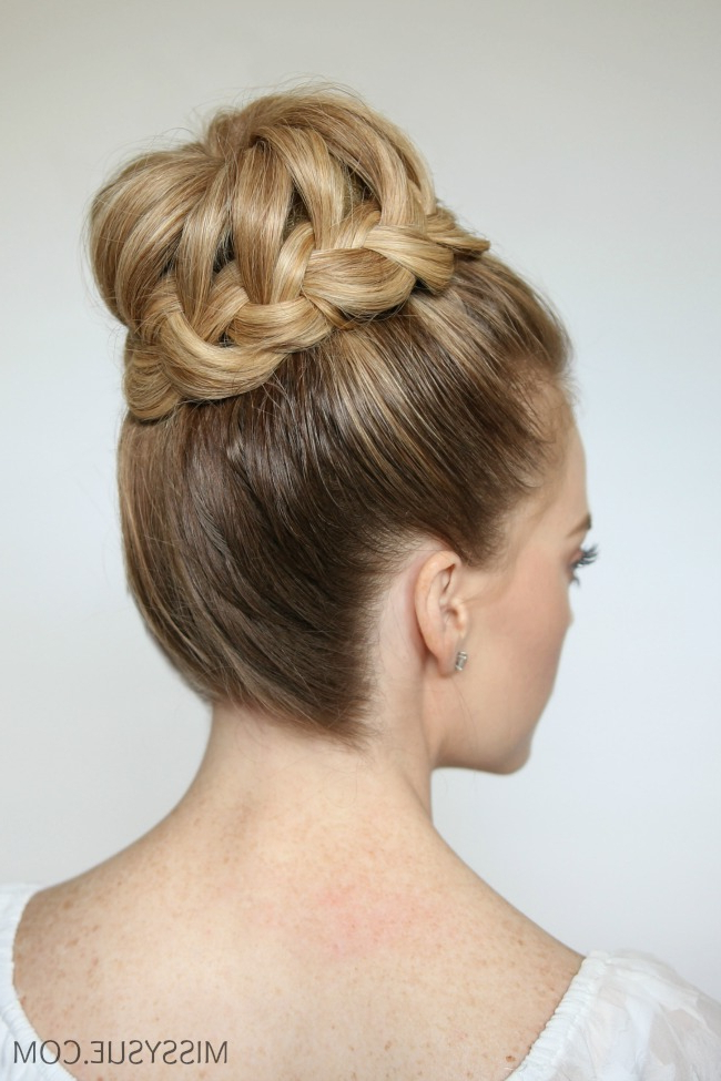 French Braid High Bun | Missy Sue Inside Braided Chignon Prom Hairstyles (View 22 of 25)
