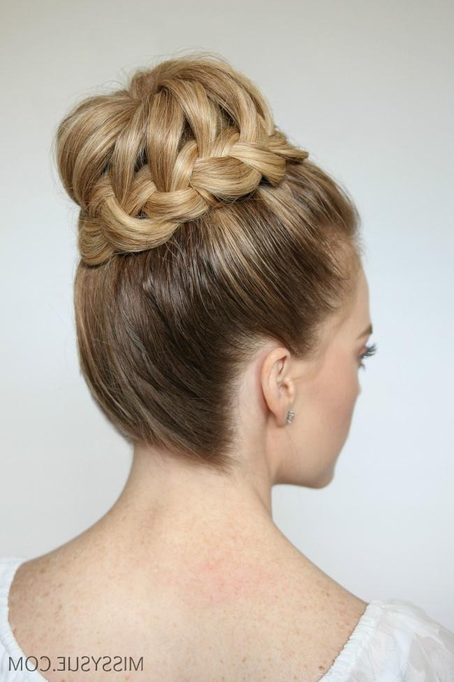 French Braid High Bun | Missy Sue inside Braided Chignon Prom Hairstyles