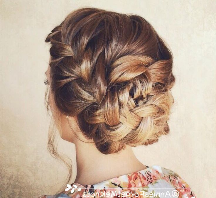 French Braid Updo Hairstyles New Styles | Hairstyles | Braided Within Fishtail Florette Prom Updos (View 9 of 25)
