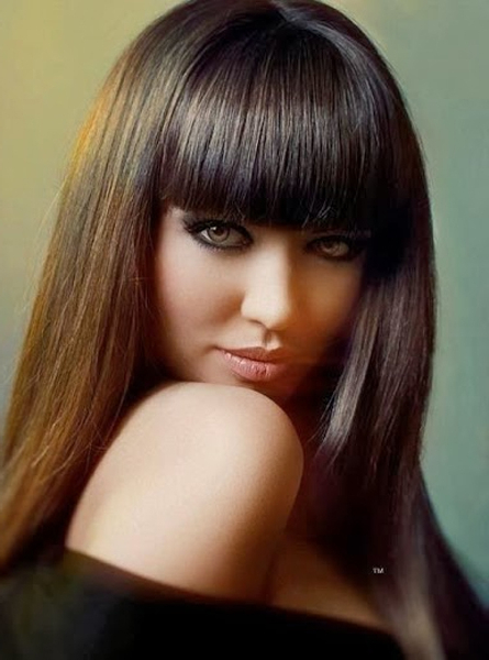 Full Fringe Long Hairstyles | Full Dose with regard to Full Fringe Long Hairstyles