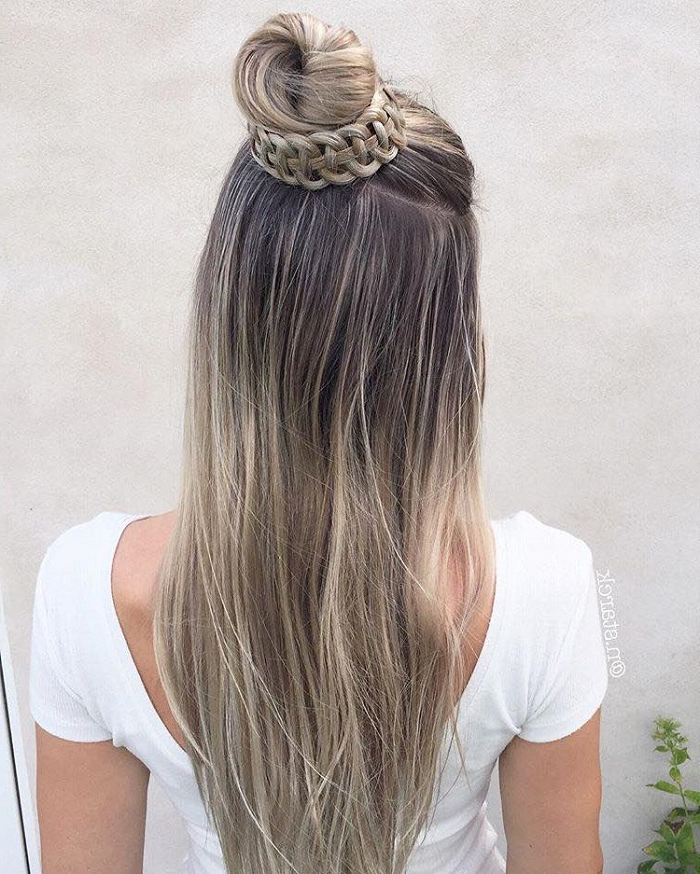 Fun Winter Half Up Half Down Hairstyles | Fashionisers© Throughout Long Hairstyles Half Up Half Down (View 19 of 25)