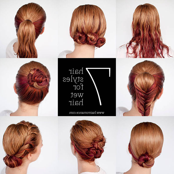 Get Ready Fast With 7 Easy Hairstyle Tutorials For Wet Hair – Hair In Long Hairstyles Easy And Quick (View 13 of 25)