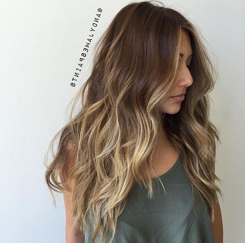 Girl, Eyebrows, Make Up, Beauty, Lips, Hair, Brunette, Eyeliner, Mac With Regard To Long Dark Hairstyles With Blonde Contour Balayage (View 7 of 25)