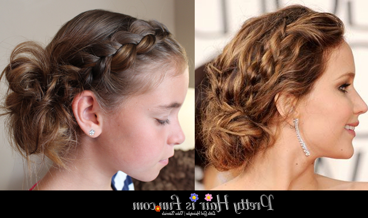 Girls' Hairstyles: Side Dutch Braid Updo – Pretty Hair Is Fun For Dutch Braid Prom Updos (View 18 of 25)