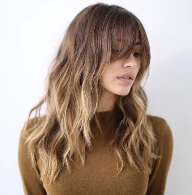 Give Your Hairstyle Versatility With Long Layered Bangs (View 5 of 25)
