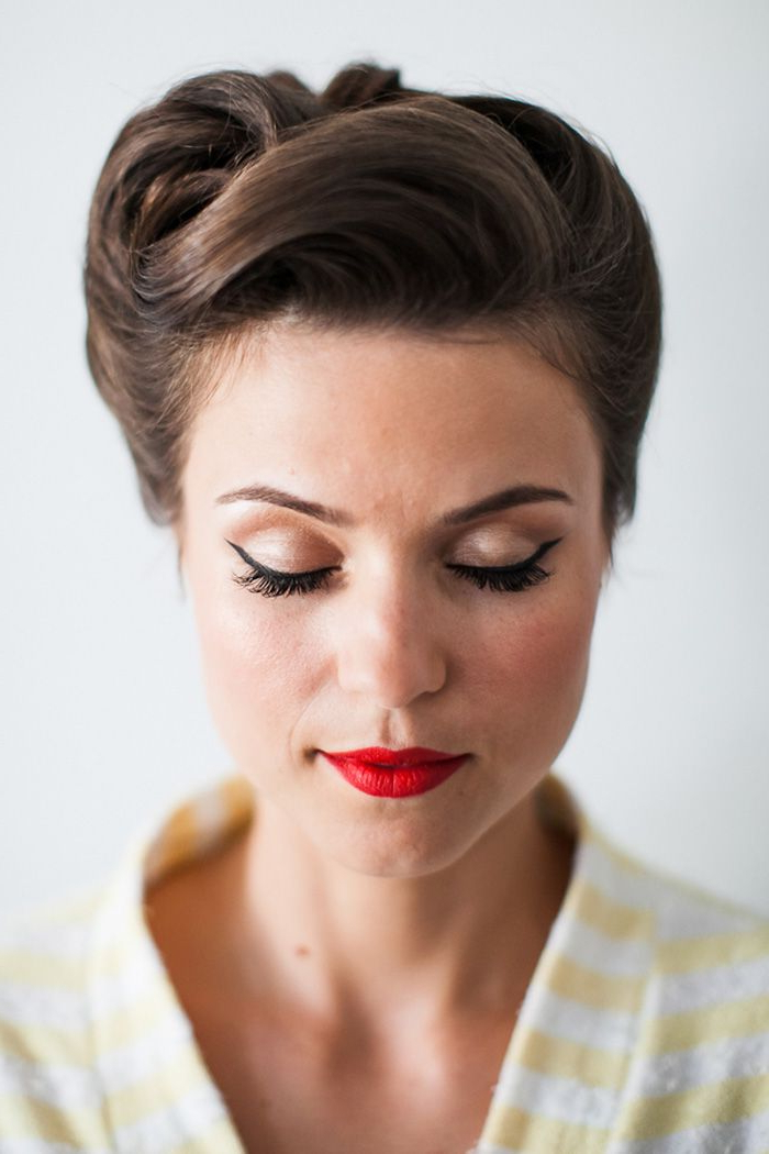 Gorgeous! A Brit & A Blonde | Makeup | Hair Styles, Prom Hair, Retro in Vintage Updos For Long Hair