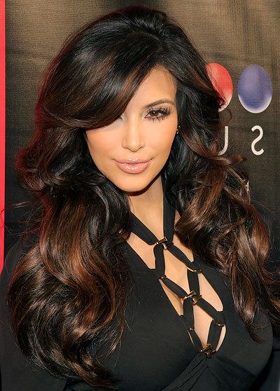 Gorgeous Celebrity Long Layered Hairstyles On We Heart It With Regard To Long Layered Hairstyles Kim Kardashian (View 10 of 25)
