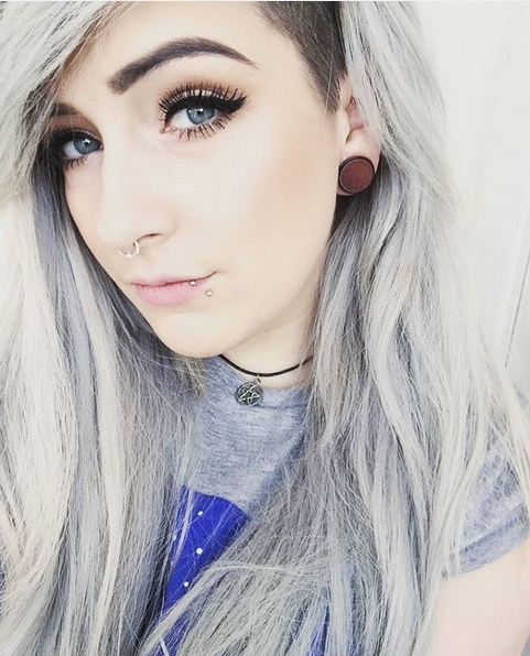 Gorgeous Grey Hair Trend Colors You Should Consider - Popular Haircuts throughout Long Haircuts With Shaved Side