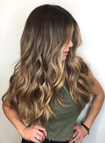 Gorgeous Long Brunette Hair With Rich Blonde Balayage Hair Color Pertaining To Long Hairstyles Balayage (View 24 of 25)