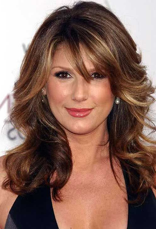 Gorgeous Looking Long Hairstyles For Older Women | Beauty | Bangs regarding Long Hairstyles Over 45