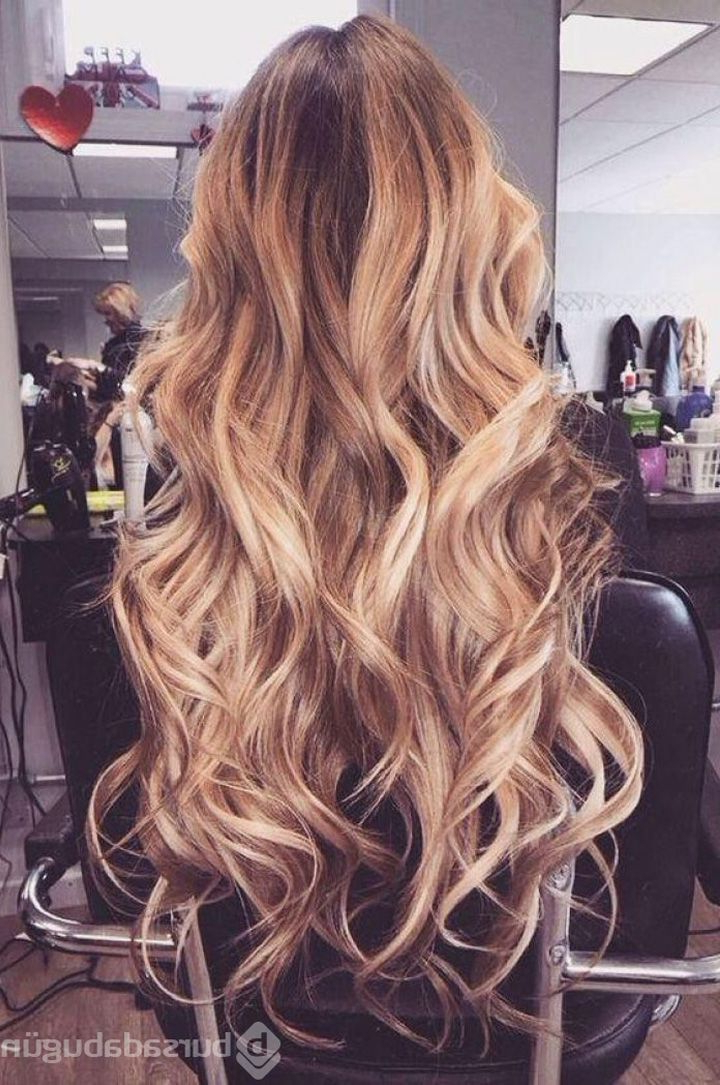 Gorgeous Loose Curls Prom Hair | Hair Color In 2019 | Hair Styles in Gorgeous Waved Prom Updos For Long Hair