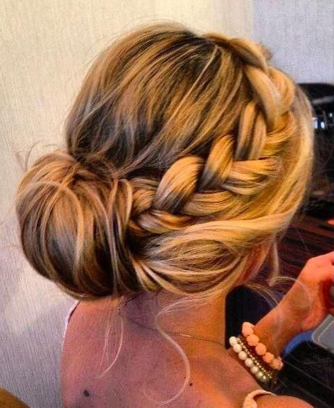 Graceful And Beautiful Low Side Bun Hairstyle Tutorials And Hair inside Bun And Three Side Braids Prom Updos